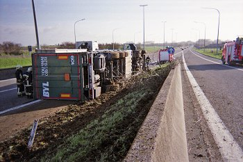accident de camion A8,Bassilly.